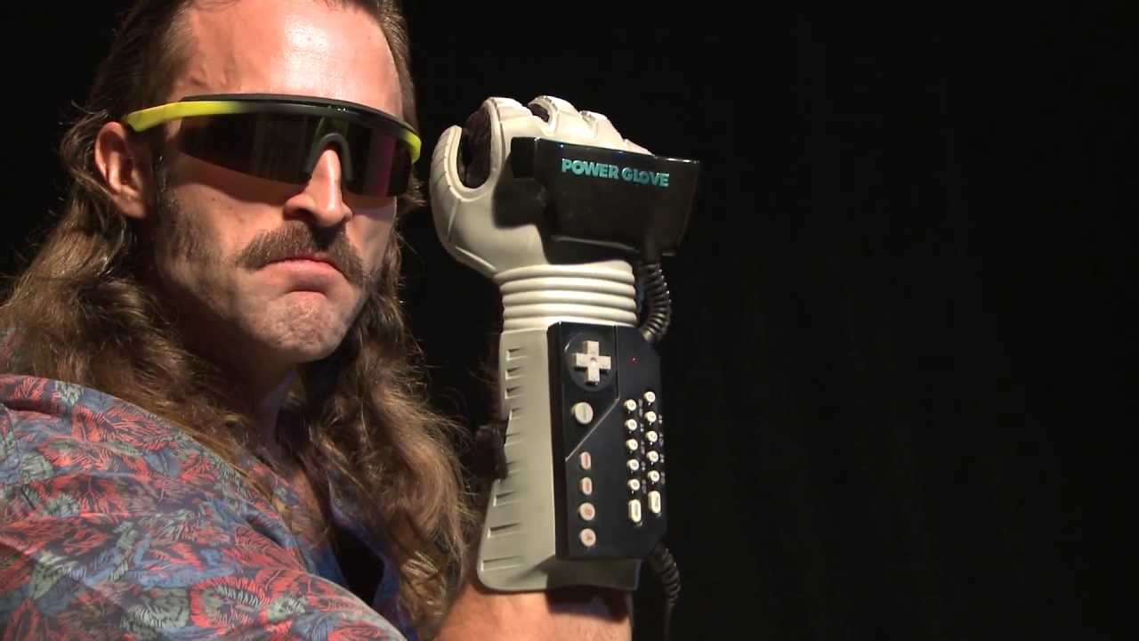 hacked Ninetendo Power Glove controlling a drone