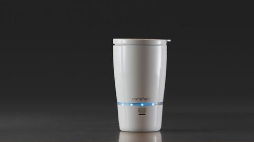 Nano heated mug for true coffee lovers