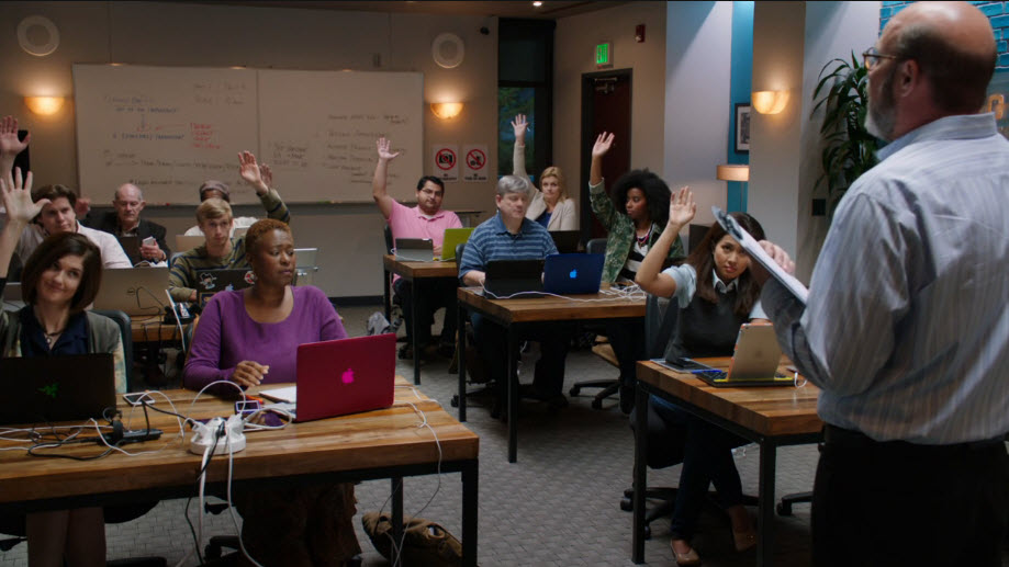 Pied Piper focus group on HBO's Silicon Valley