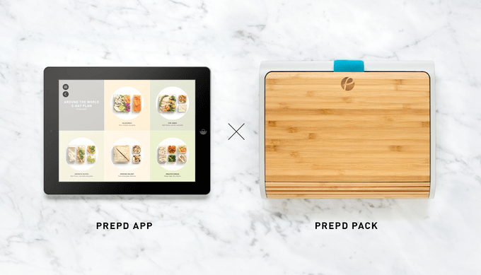 Prepd lunchbox and app with pre-planned lunch recipes