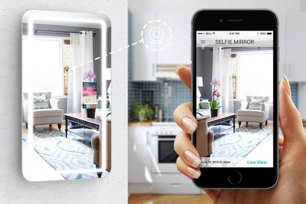 Selfie smart mirror app