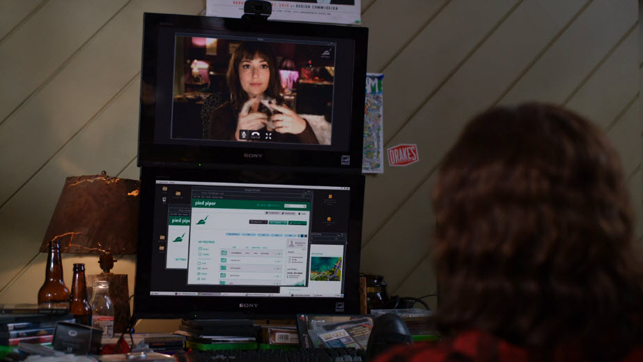 video conferencing on HBO's Silicon Valley season 3 episode 7