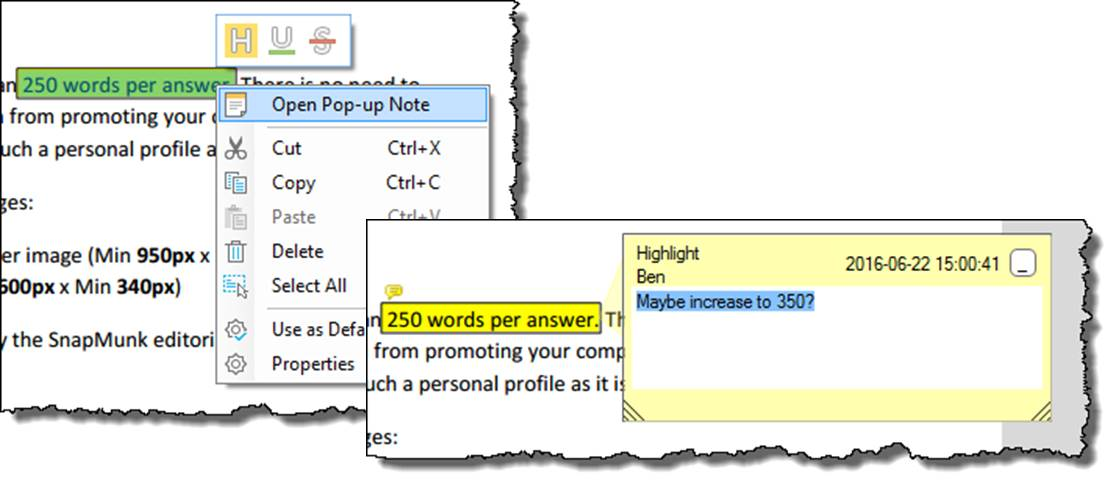 wondershare PDFelement annotating PDF