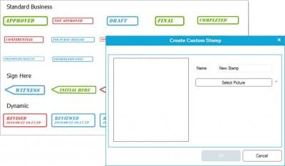 wondershare PDFelement digital stamps on PDFs