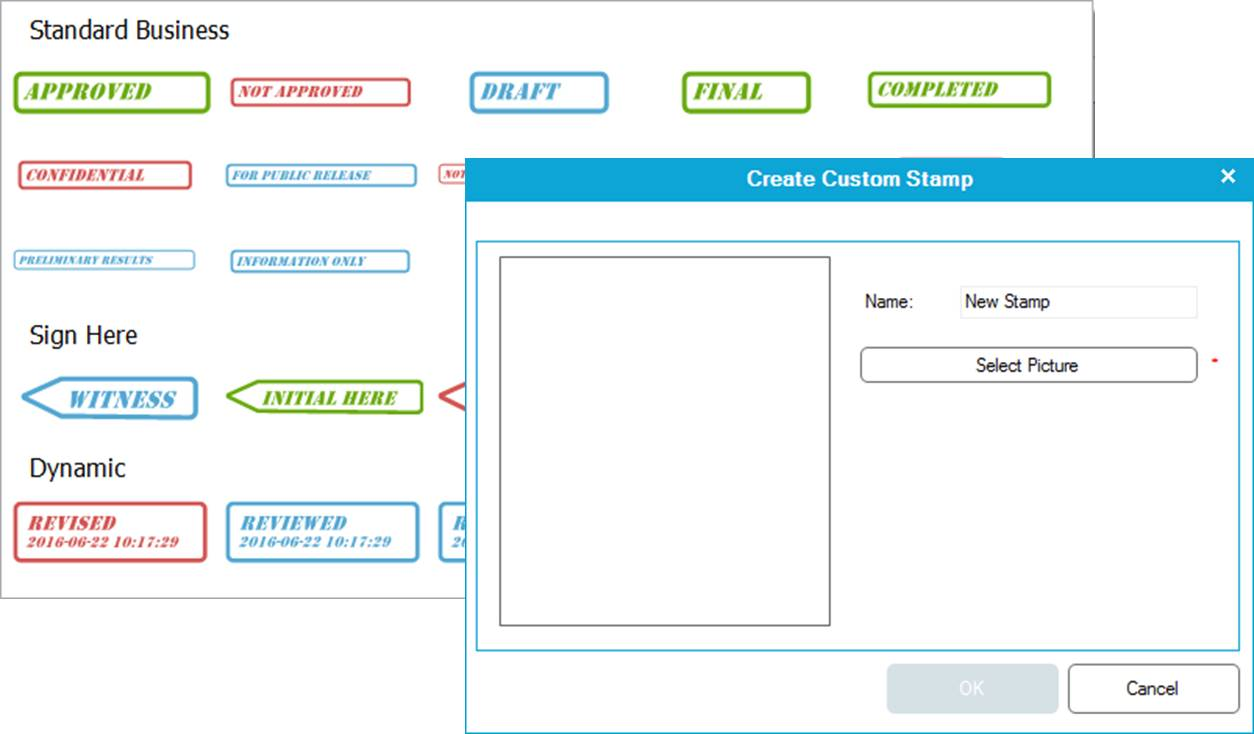 placing watermarks on a PDF using digital stamps with Wondershare
