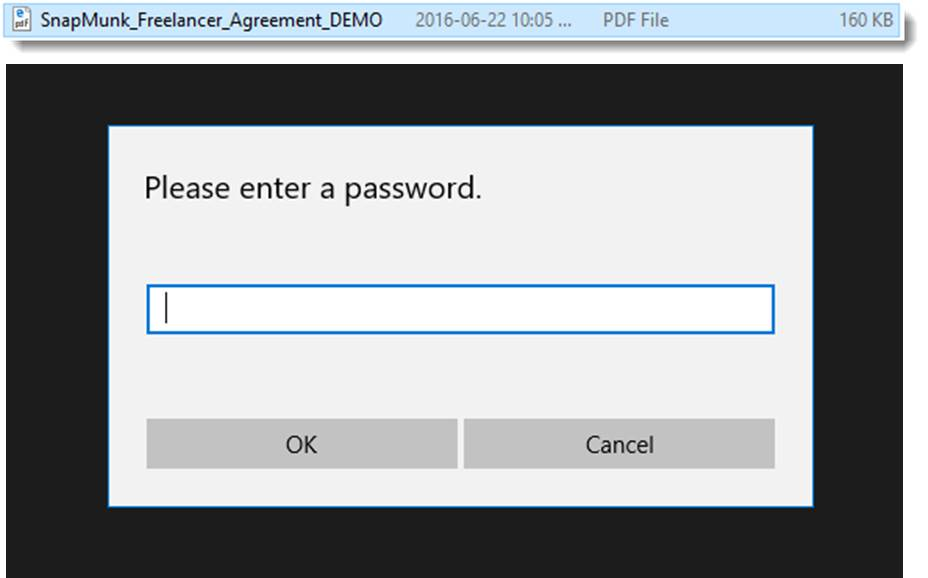 secure PDF login from Wondershare