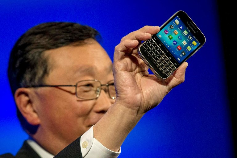 old Blackberry with physical keyboard that is being discontinued