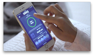 zeeq smart pillow app on phone