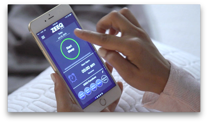 ZEEQ smart pillow sleep tracking app