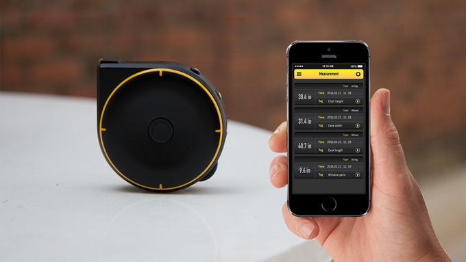 Bagel smart tape measure with companion smartphone app