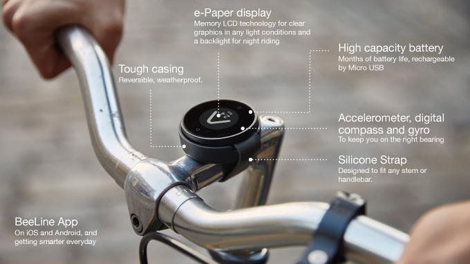 features of Beeline cyclist navigation system