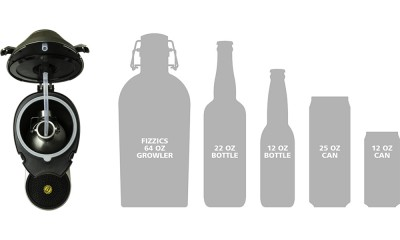 fizzics bottle sizes