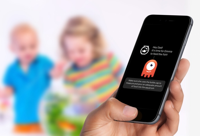 app connected to wearable smartwatch for kids showing chores completed