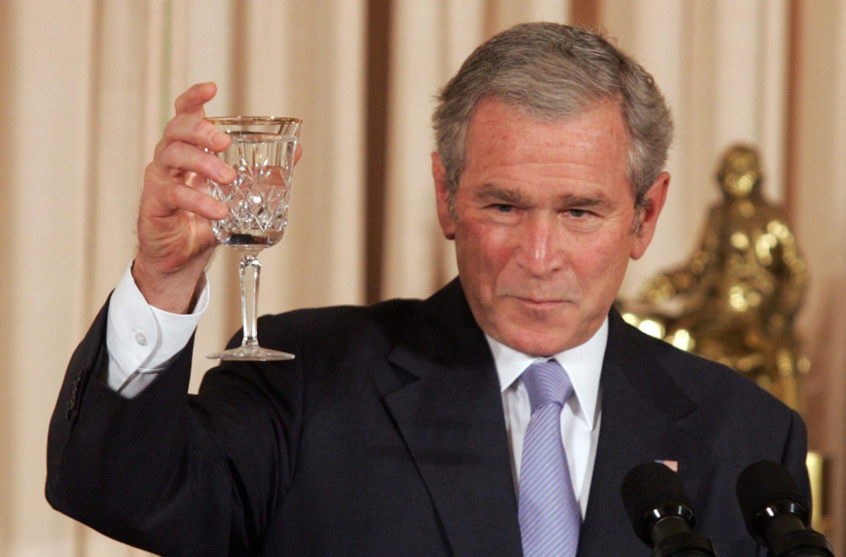 George W Bush, who banned stem cell research