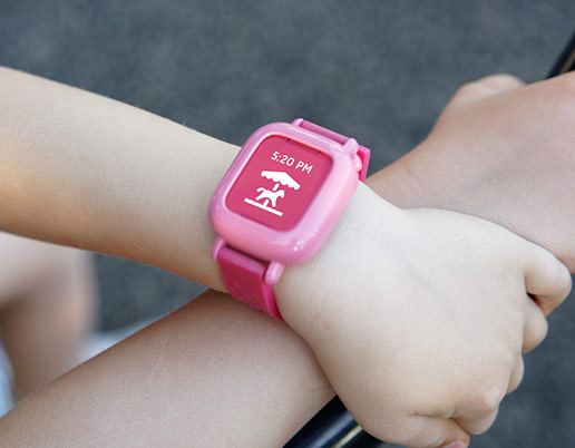 kids smartwatch helping child do chores and learn time