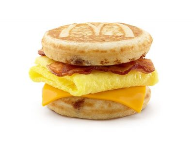 mcdonalds breakfast bacon egg cheese mcgriddles