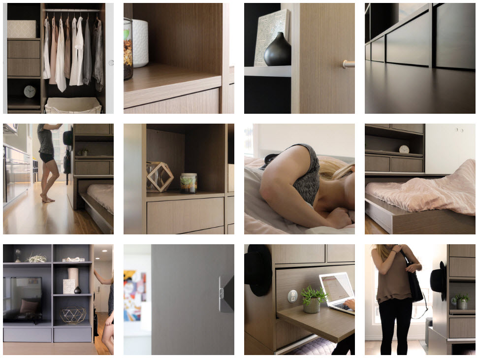 Ori robotic furniture in different layouts