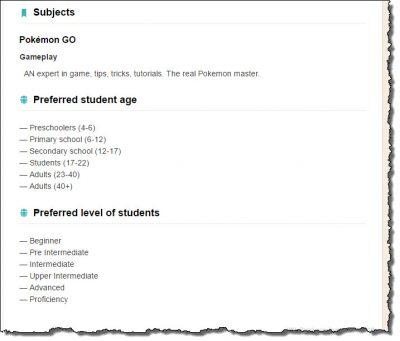 pokemon go tutors minimum age and skill