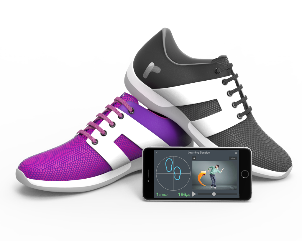 Rhythm smart dance shoes and app