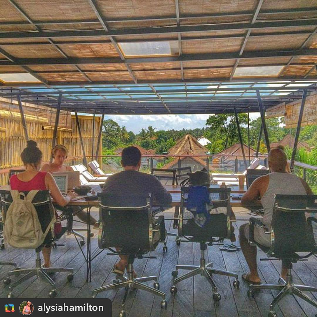 co-working in Bali through Roam