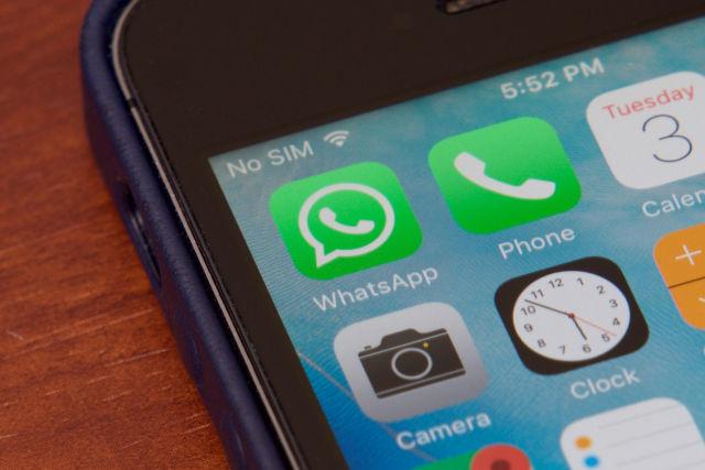 WhatsApp logo on iPhone in Brazil