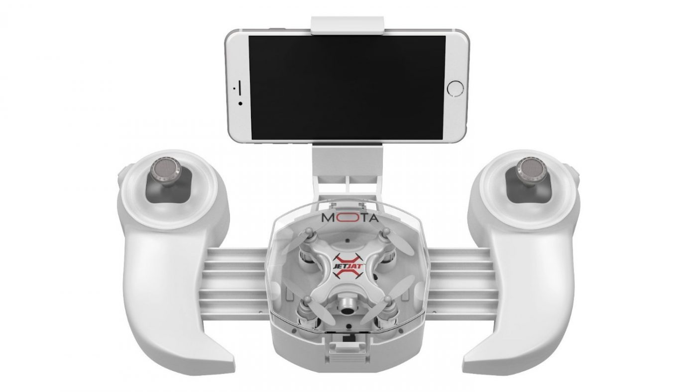 MOTA JETJET ULTRA drone in storage case with app