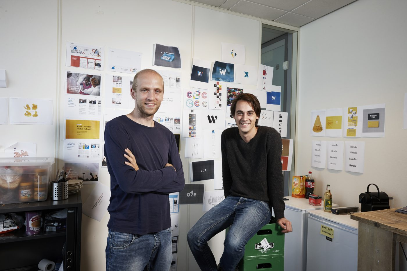 journalism platfrom Blender founders, Marten Blankesteijn and Alexander Klöpping