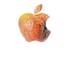 Apple logo gone rotten