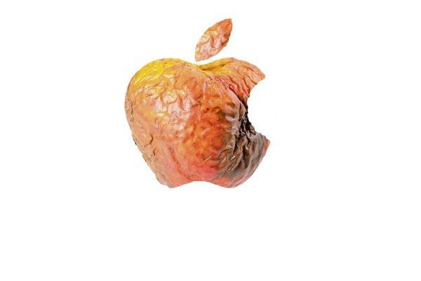 Apple logo gone rotten
