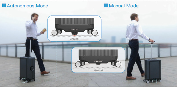 CowaRobot smart suitcase in two modes