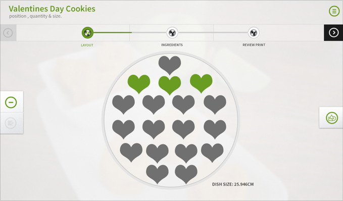 planning 3D food printing with Foodini website