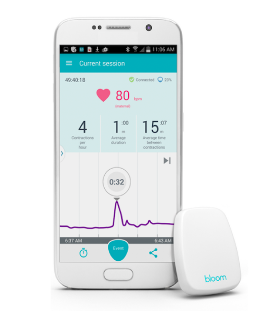 Belli pregnancy tracker connected smartphone app
