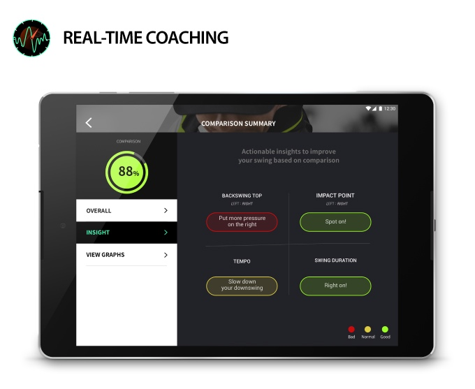 real-time golf coaching app