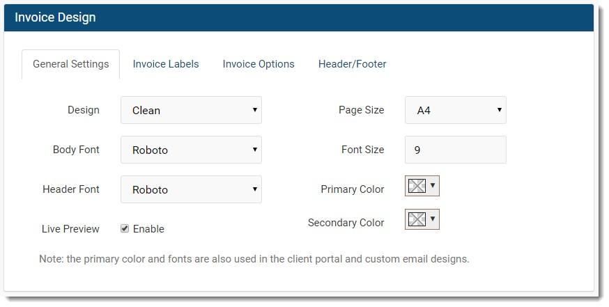 InvoiceNinja invoice design template