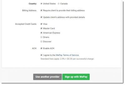 invoice ninja settings