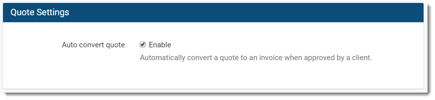 converting quote to invoice in Invoice Ninja