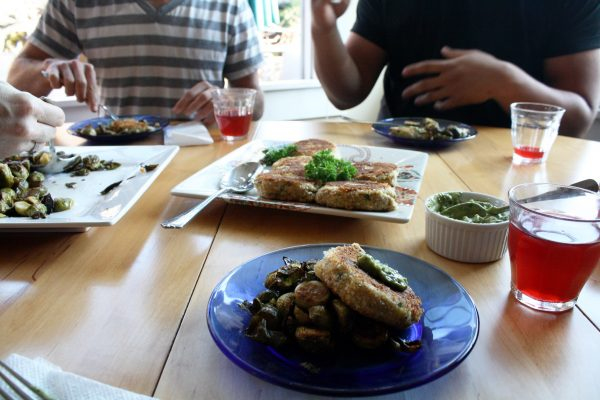 people enjoying food from Josephine home cooked meals app