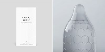 lelo hex packaging and condom