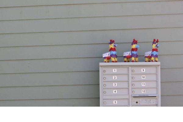 pinatas from Pinatagram on a mailbox