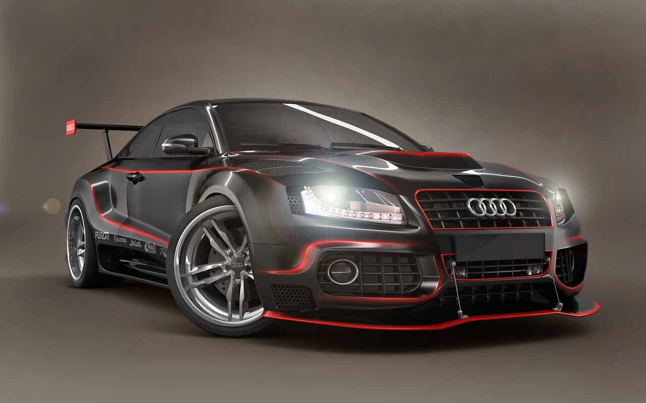 Audi model equipped with V2I
