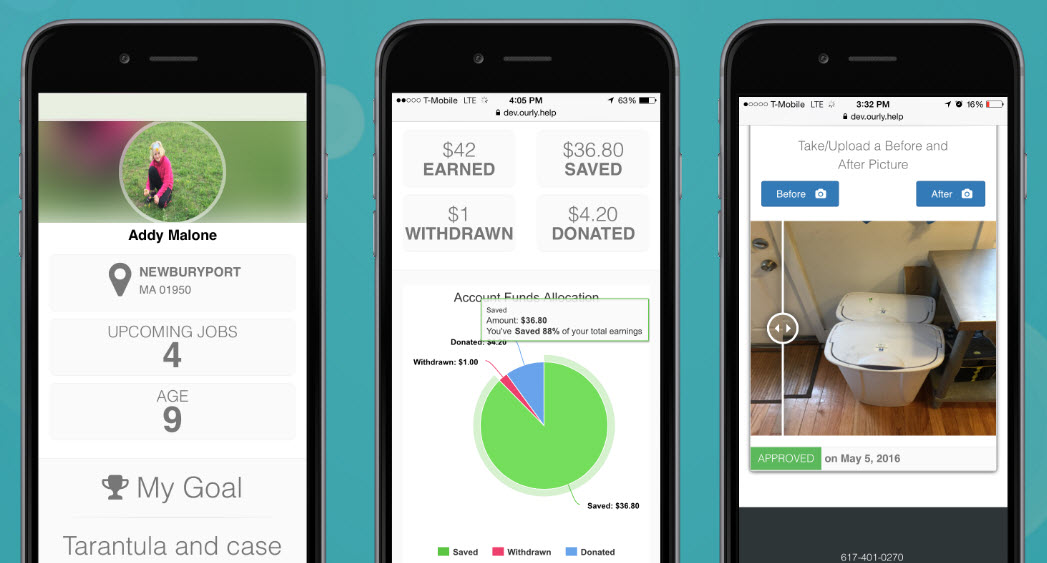 how the parenting app Ourly.Help works to pay kids for chores