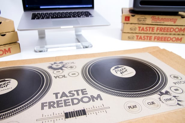 Pizza Hut's playable dj pizza box