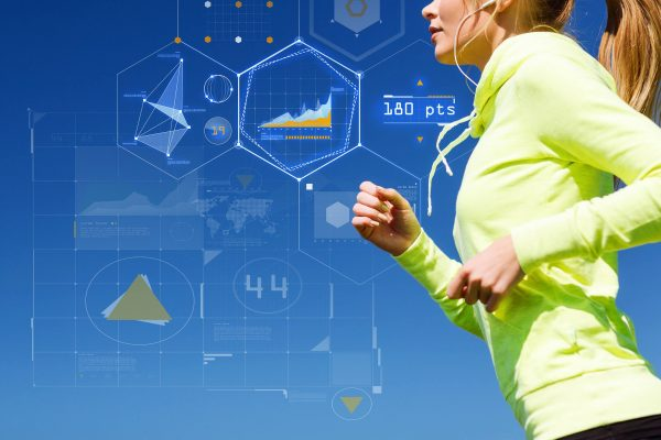 runner with STEPP fitness wearable