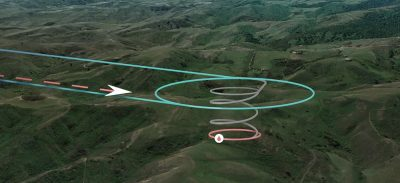 zipline medical drone delivery path