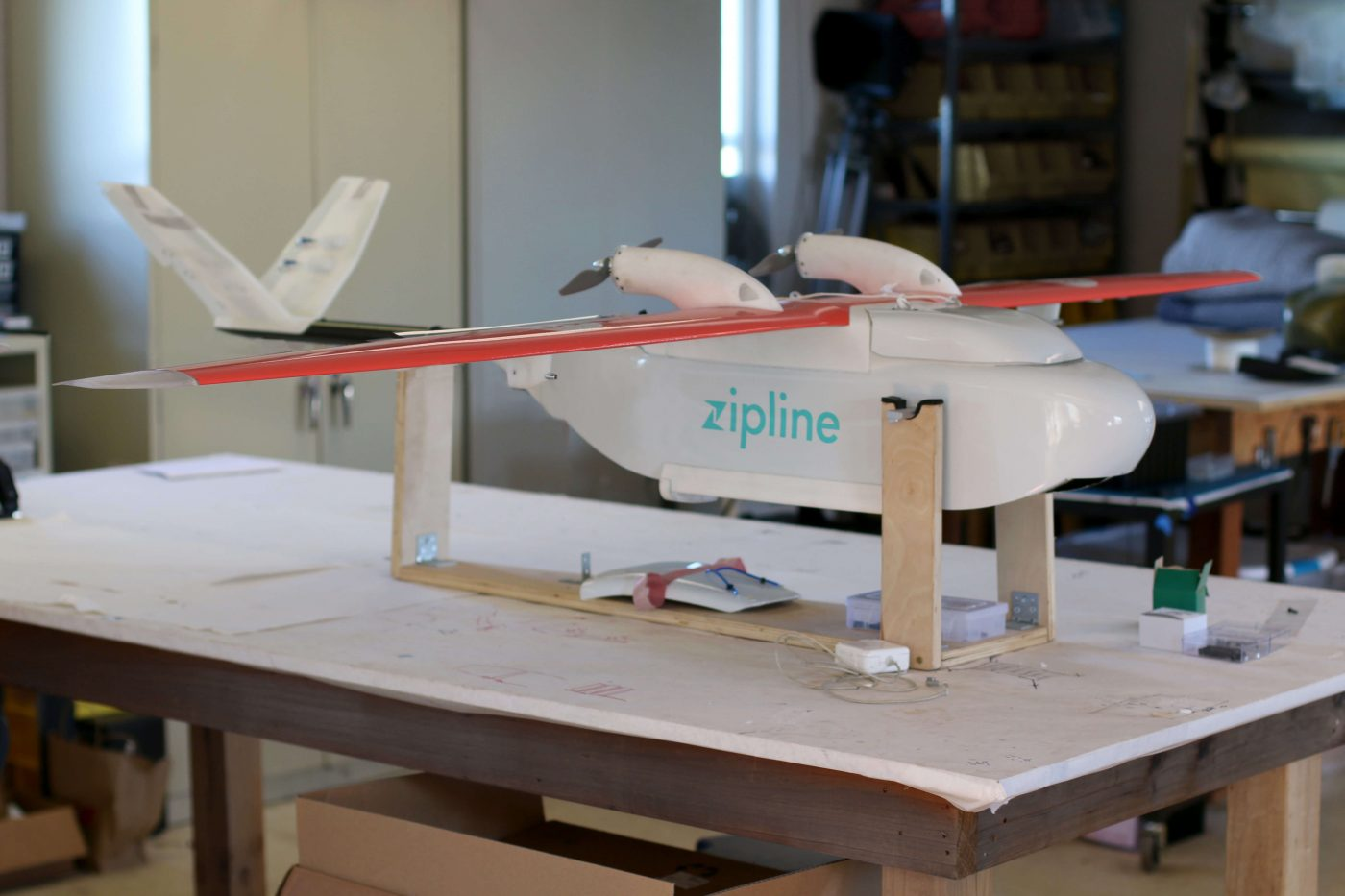 drone from Zipline designed to drop medical supplies