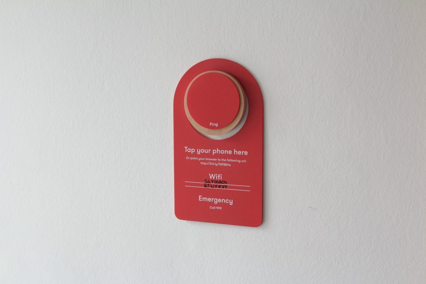 Ping device placed by Airbnb hosts
