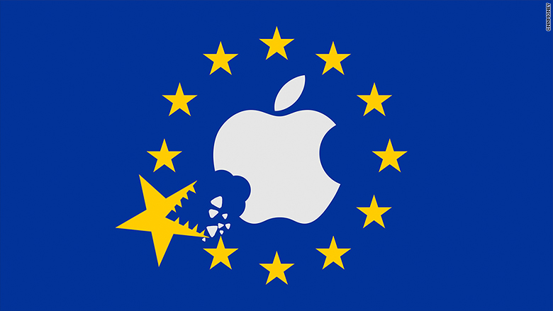 European Union takes a bite out of Apple on a metaphorical flag