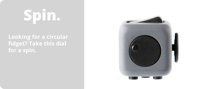 Fidget Cube with dial that can be spun