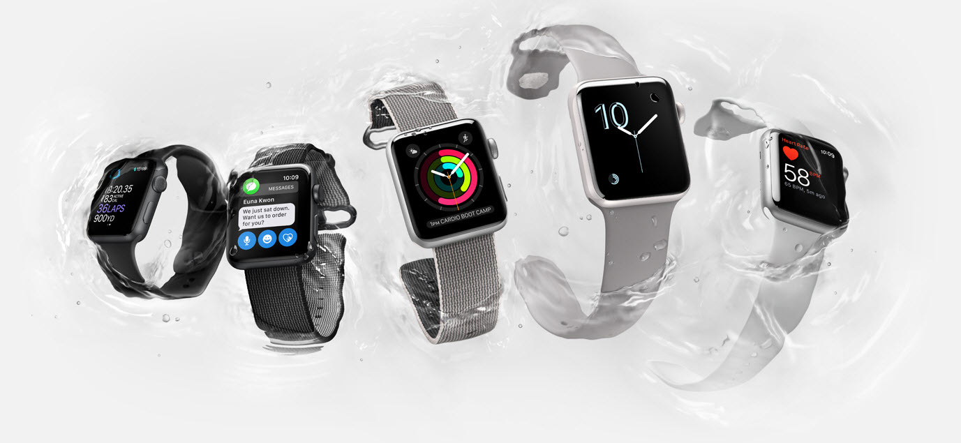 varieties of the series 2 Apple Watch