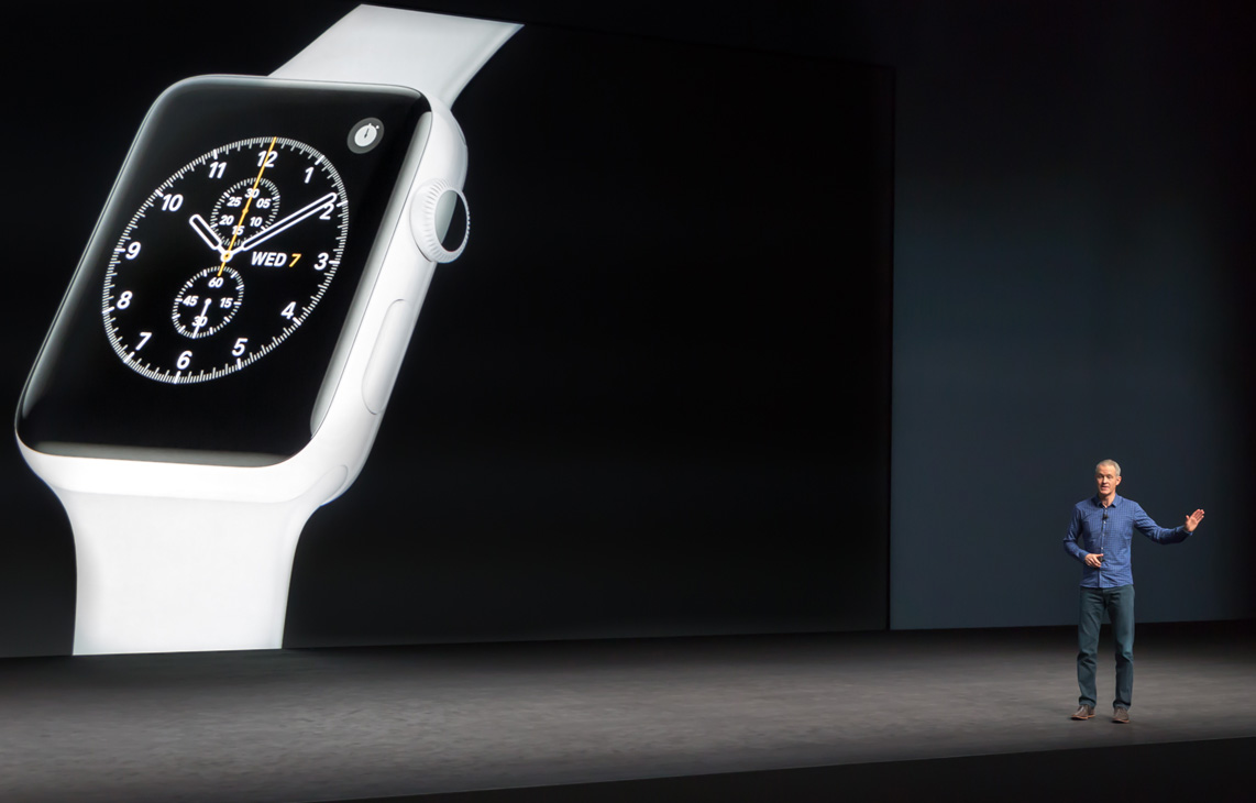 Apple event announcement of the series 2 Apple Watch